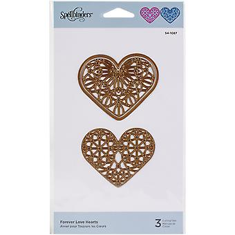 Spellbinders Etched Dies - Forever Love Hearts-Expressions Of Love