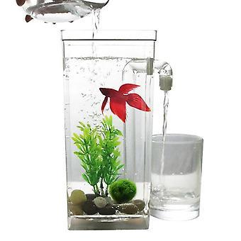Mini Fish Tank Aquarium Self Cleaning Fish Tank Bowl Convenient Desk Aquarium For Office Home
