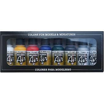 Vallejo Model Air Set - Couleurs de base - 8 bouteilles de 17ml