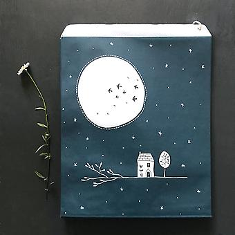 East of India Paper Party Craft Gift Bags x 50 - Navy Full Moon