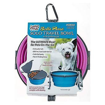 Loving Pets Bella Roma Pink Travel Bowl  - 1 count - Medium