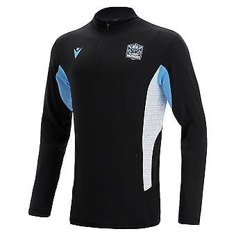 2021-2022 Glasgow Warriors Performance Half Zip Softshell (Black)