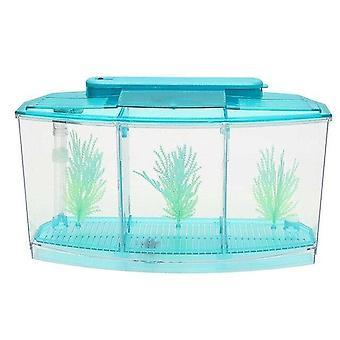 Bærbar Akvarium Mini Fish Tank LED Light Fish Aquarium Tank Divider Filter Vand Home Decor Fisk