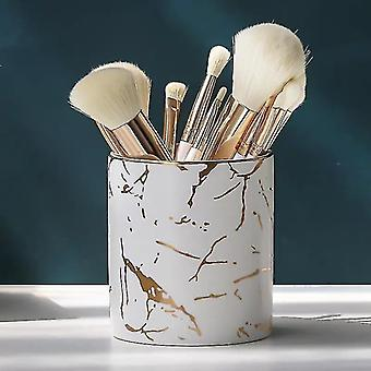 Toothbrush holders nordic style marble textured pattern commodity holders for cosmetics  toohbrushes or office