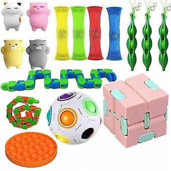 16pcs Toys Set Sensory Tools Bundle Stress Relief Hand Kids Toys
