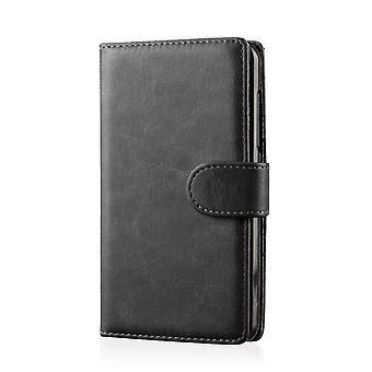 Buch PU Leder Case Cover für Samsung Galaxy Note 3 N9000 + Stift - schwarz