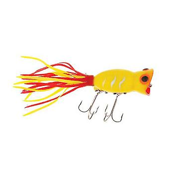 Arbogast Hula Popper 5/8 oz Fishing Lure - Yellow