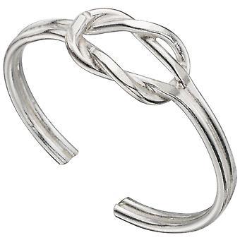 Zirconia argento 925 regolabile Toe Ring