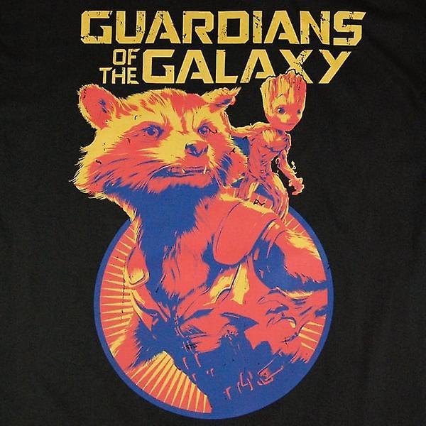 Guardians of the Galaxy Guardians Of The Galaxy Vol. 2 Rocket And Groot T Shirt Black