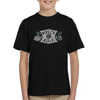 Wreck N Rule Transformers Kid's T-Shirt