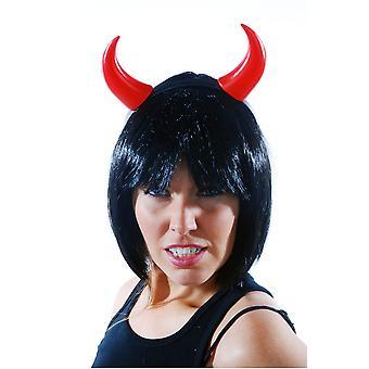 Artículos de sombrerería de pelo accesorios plástico diablo cuernos rojos