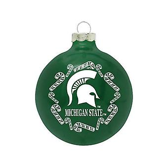 Michigan State Spartans NCAA Candy Cane Ornament