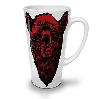Faccia rossa orso selvaggio nuovo tè bianco Latte del caffè ceramica tazza 12 oz | Wellcoda