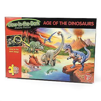 Alder av Dinosaur 100 stykke glød i mørke puslespill