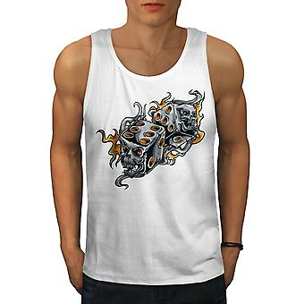 Gamble Dice Evil Gamble Men WhiteTank Top | Wellcoda