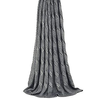 Riva Home Metallic Cable Throw