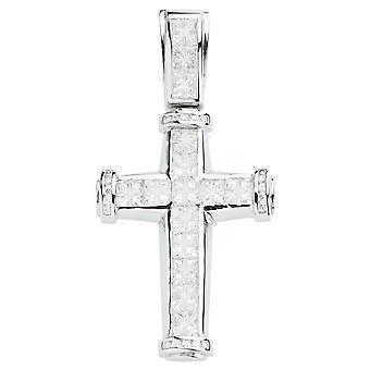 925 iskallt ut sterling silver cross - osynlig skär