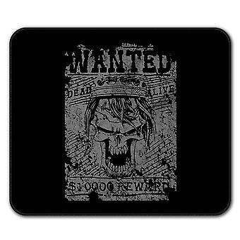 Wanted Skeleton Skull  Non-Slip Mouse Mat Pad 24cm x 20cm | Wellcoda
