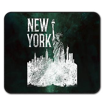 New York City Statue  Non-Slip Mouse Mat Pad 24cm x 20cm | Wellcoda