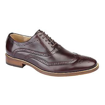 Goor Mens Wing Capped Brogue Oxford Shoes