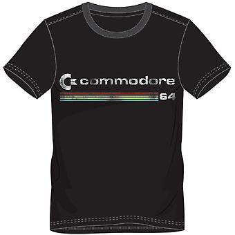 Commodore 64 Mens Logo T-Shirt Large Black (TS878446C64-L)