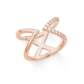 s.Oliver juvel damer ring silver Rosé cubic zirconia X 201860