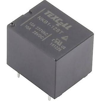Texcell NKB1-12ST PCB relay 12 V DC 10 A 1 change-over 1 pc(s)