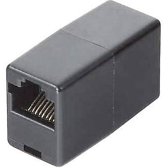Hama ISDN -sovitin [1x RJ45 8p8c -liitin - 1x RJ45 8p8c -pistoke] 10,00 cm Musta