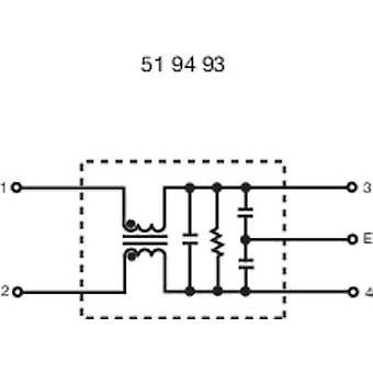 Yunpen YG10T5 EMI filter 250 V AC 10 A 0.3 mH (L x W x H) 68 x 55 x 25 mm 1 pc(s)