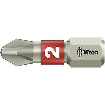 Wera 3851/1 TS PH 2 X 25 MM 05 071011 001 Philips bit PH 2 Acciaio inossidabile D 6,3 1 pc