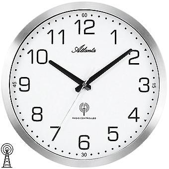 الجدار راديو ساعة الجدار حالة المعادن الإذاعة على مدار الساعة ساعة الحائط التي تسيطر عليها