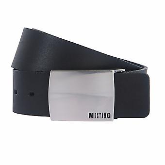 MUSTANG belts men's belts leather belt black 2136