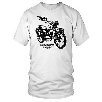 BSA Bantam Super Modell D7 klassisches Motorrad Motorrad Bike Herren-T-Shirt