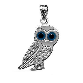 Sterling Silber Evil Eye Eule Charm-Anhänger