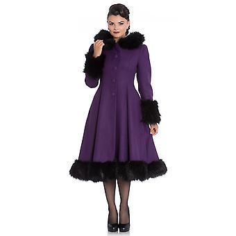 Hell Bunny Purple Hooded Elvira Coat S