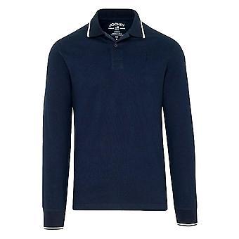 Jockey Langarm-Poloshirt - Navy