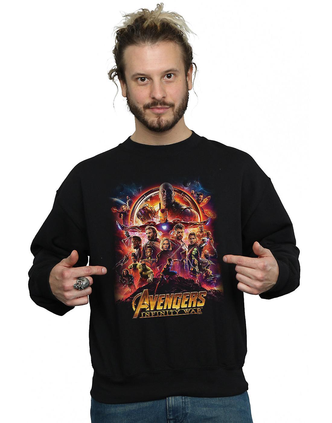 Marvel Men's Avengers Infinity War Movie Poster Sweatshirt