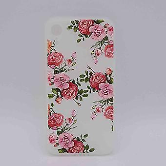 iPhone XR-Beutel-rosa Rosen in voller Blüte