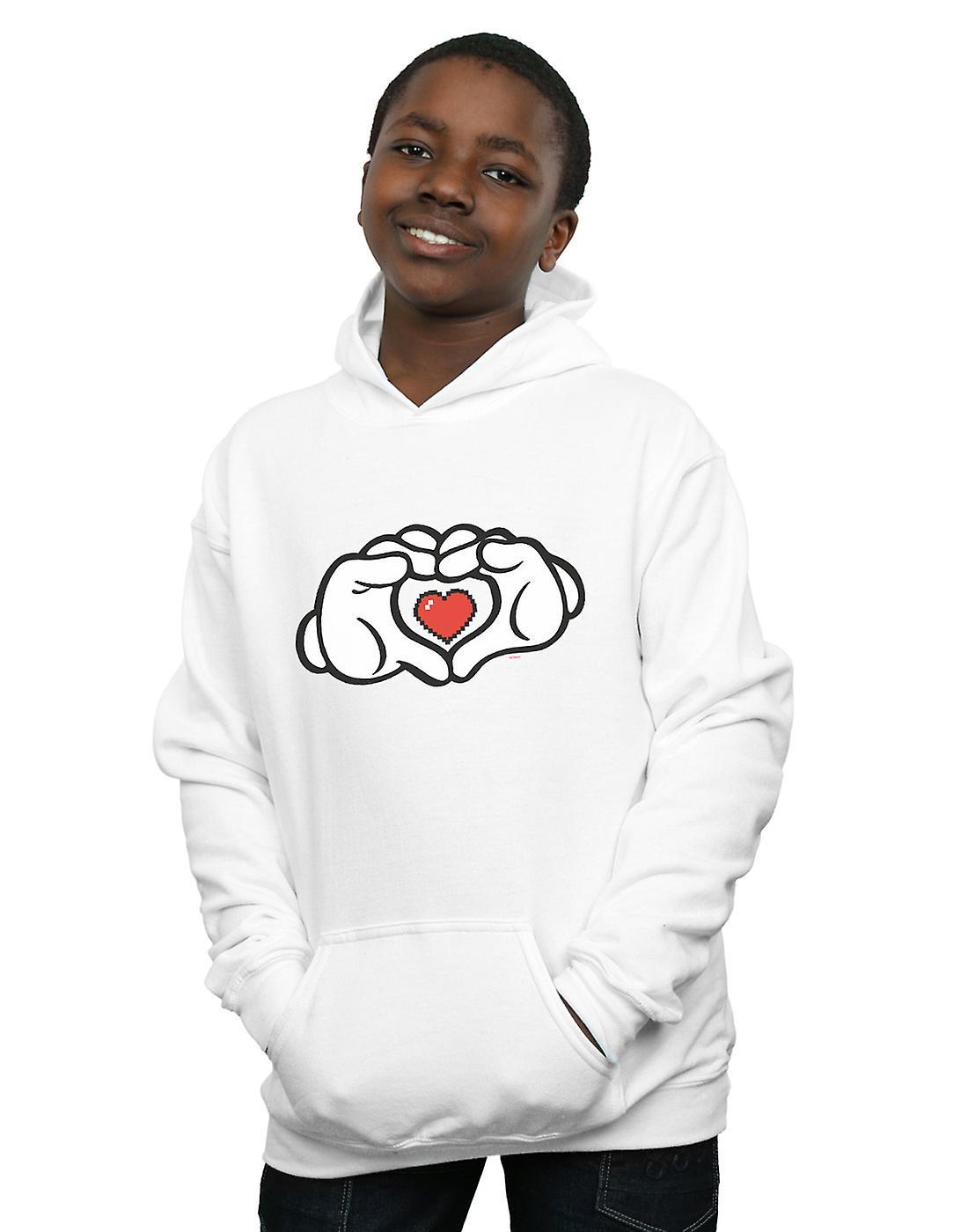 Disney Boys Mickey Mouse Heart Hands Hoodie