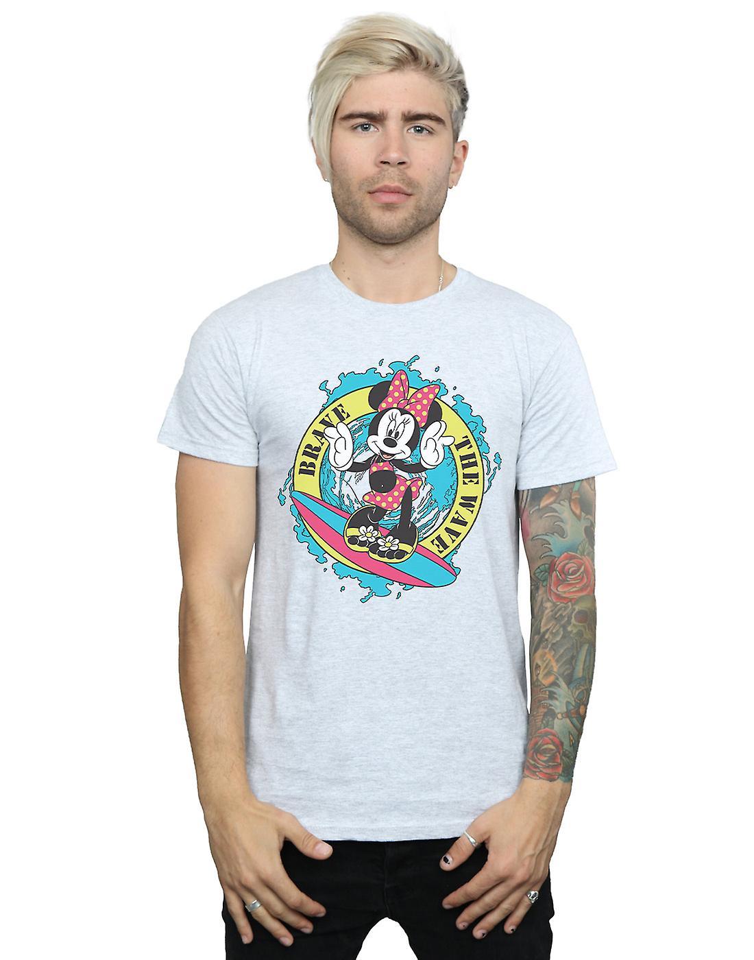 Disney Men's Minnie Mouse Brave The Wave T-Shirt