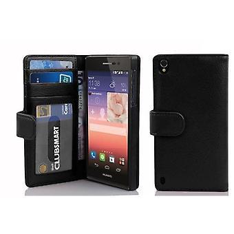 Cadorabo geval voor Huawei P7 gevaldekking-telefoon geval met magnetische sluiting en 3 kaartsleuven-Case cover geval geval geval boek vouwen stijl