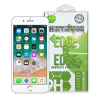 iParts4uプレミアム強化ガラスエッジからエッジスクリーンプロテクター - iPhone 7 Plus / 8 Plus用 - ホワイト