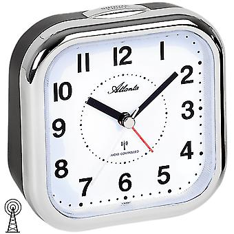Atlanta 1829/19 alarm clock radio alarm clock analog black silver with light Snooze
