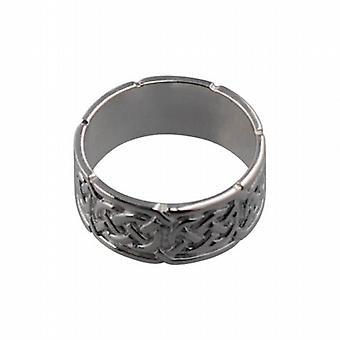 Silver 8mm Celtic Wedding Ring Size N