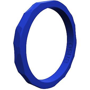 Enso Ringe gehämmert Stackables Serie Silikon-Ring - Königsblau