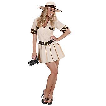 Safari-Mädchen (Kleid Gürtel Hut)
