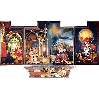 Concert of Angels and Nativity,Matthias Grunewald,60x35cm