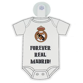 Real Madrid bébé à bord signe
