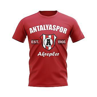 Antalyaspor etablerte fotball T-skjorte (Red)