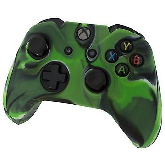 Pro Soft Silikon Protective Cover mit Ribbed Handle Grip Camo Green-Xbox One